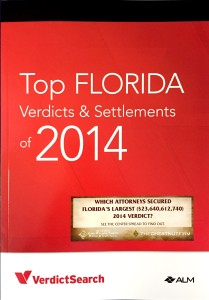 Annual Publication of Florida's Top Verdicts and Settlements of 2014